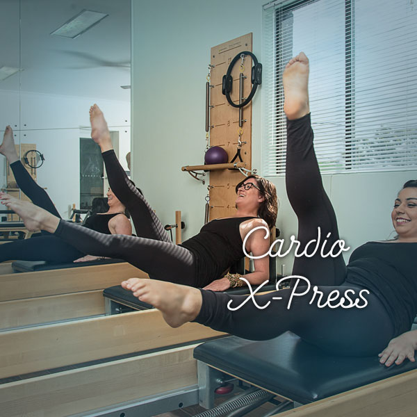 Cardio X-Press Class Get ready to glisten! With Pilatestry Studios' Cardio X-press classes you can expect to sweat, smile and sing, as you horizontally jump your way to a healthier you.