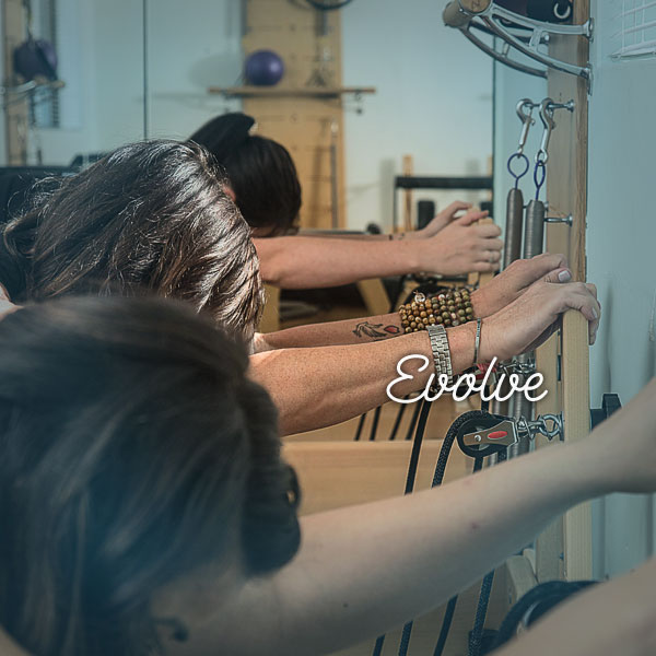 Evolve Class Pilatestry Studios' Evolve class is designed to strengthen your inspired foundations of your Pilates practise, giving you a deeper understanding of Pilates' principles whilst utilising all Pilatestry Studios apparatus.